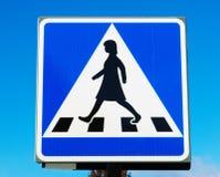Пешеходный переход подписывает внутри Швецию Стоковая Фотография