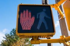 Пешеходный свет стопа Стоковые Фото