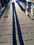 Пешеход с всадником Стоковые Изображения RF