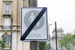 Пешеходы запрета знака Стоковые Изображения