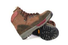 Пешие ботинки изолированные на белизне Стоковые Изображения RF