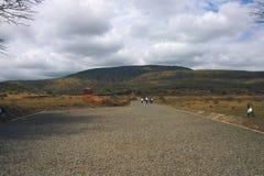 Пеший держатель Longonot, национальный парк Longonot держателя, Стоковое Изображение
