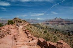 Пеший поход национального парка гранд-каньона, Аризона, США стоковое фото