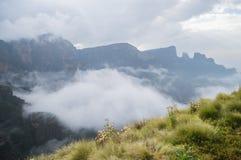 Пеший туризм в горах Simien, Эфиопия стоковая фотография rf