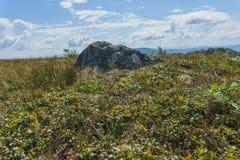 Пеший туризм в горах Taganay- национального парка, реки, озера Стоковые Изображения