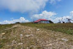 Пеший туризм в горах Taganay- национального парка, реки, озера Стоковые Изображения RF