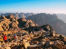 Пеший туризм в горе Синай Стоковые Изображения