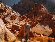Пеший туризм в горе Синай Стоковые Фото