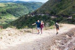Пеший туризм в Коста-Рика стоковая фотография rf