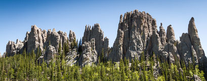 Пеший туризм в парке штата Custer, Южная Дакота стоковые фото