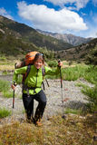 Пеший туризм горы Стоковые Изображения RF
