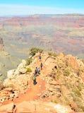 Пеший туризм гранд-каньона Стоковое Фото