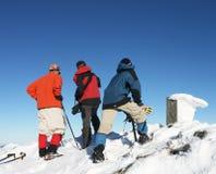 Пеший туризм зим Стоковое Изображение RF