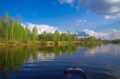 Пеший туризм каное Стоковое Изображение RF