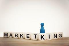 Пешка короля на маркетинге слова стоковые изображения