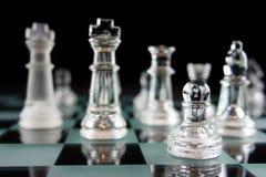пешка фокуса chessgame стоковая фотография