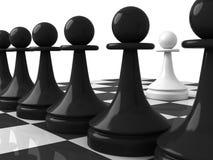 пешка черноты одного противоположная pawns белизна Стоковое фото RF