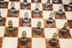 Пешки на шахматной доске Стоковые Изображения