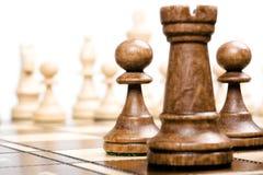 пешки фокуса шахмат Стоковые Изображения RF