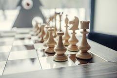 Пешки шахмат на доске Стоковые Фотографии RF