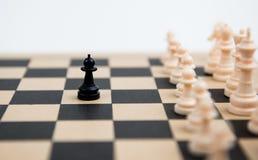 Пешки шахмат на доске Стоковая Фотография RF