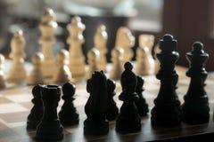 Пешки шахмат на доске Стоковое фото RF
