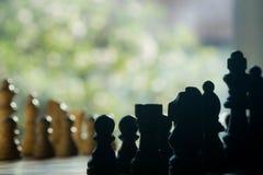 Пешки шахмат на доске Стоковое Фото
