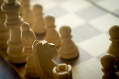 Пешки шахмат на доске Стоковые Фото