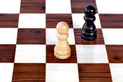 пешки шахмат противника Стоковые Изображения