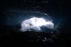 Пещера ледника Стоковая Фотография