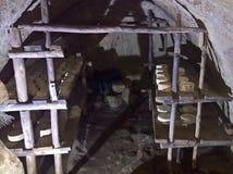 Пещера засыхания для сыров Стоковая Фотография