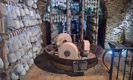 Пещера засыхания для сыров Стоковое фото RF