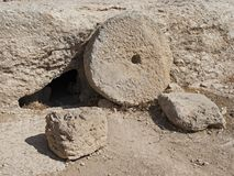 Пещера захоронения на старом древнееврейском городе Susya стоковые фото