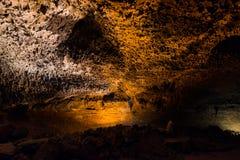 Пещера Лансароте Испания Cueva de los verdes Стоковые Изображения