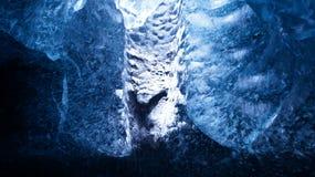 """Пещера льда """"пещера Кристл """"в леднике Vatnajökull около Hof в Исландии стоковое фото"""