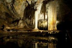 Пещера озера стоковое изображение
