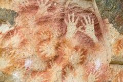 Пещера петроглифа рук Стоковая Фотография