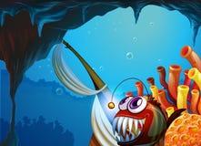 Пещера под морем Стоковое Фото