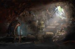 Пещера сокровища стоковое фото rf