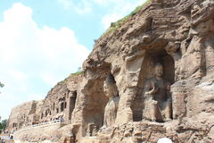 Пещера утеса Yungang китайца Стоковая Фотография