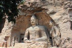 Пещера утеса Yungang китайца Стоковое Изображение