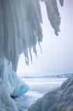 Пещера льда Стоковая Фотография
