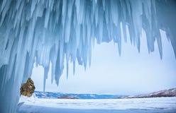 Пещера льда Стоковое Изображение