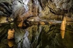Пещера Belianska в высоком Tatras, Словакии стоковая фотография