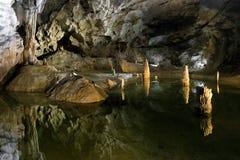 Пещера Belianska в высоком Tatras, Словакии стоковое фото