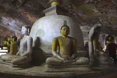 Пещера Buddhas Dambulla, Шри-Ланка стоковые фото