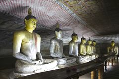 Пещера Buddhas #2 Dambulla, Шри-Ланка стоковое фото rf
