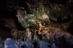 Пещера Cueva de los verdes Лансароте Испания лавы Стоковые Изображения