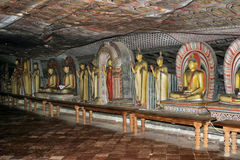 Пещера Dambulla Виск-внутри - Шри-Ланки Стоковое фото RF