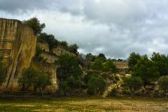 Пещера fantiano к grottaglie стоковые фото